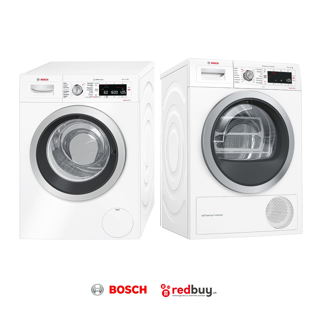 BOSCH WAW32740CH Waschmaschine und BOSCH WTW87571 CH Trockner