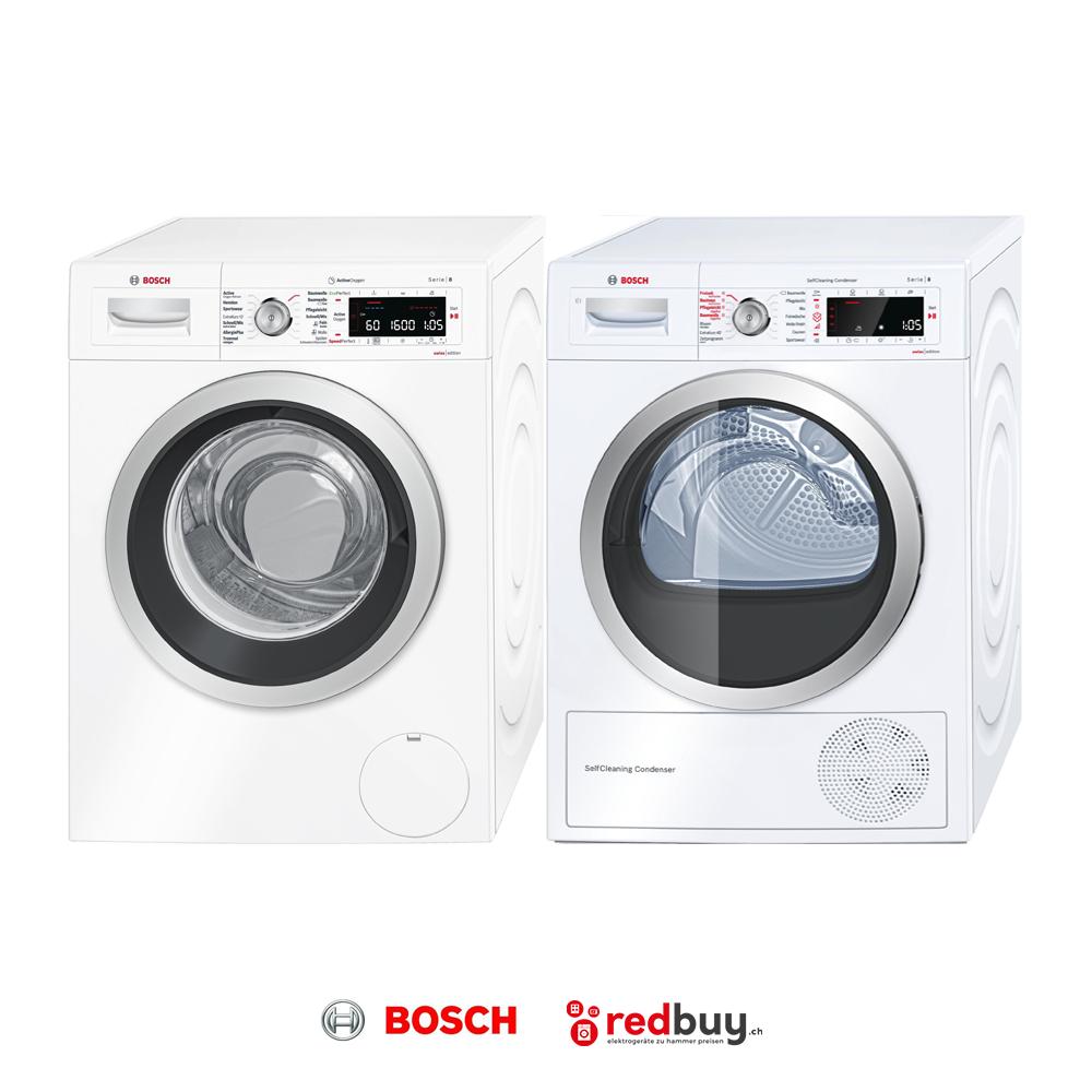 BOSCH WAW32740CH Waschmaschine und BOSCH WTW85540CH Trockner