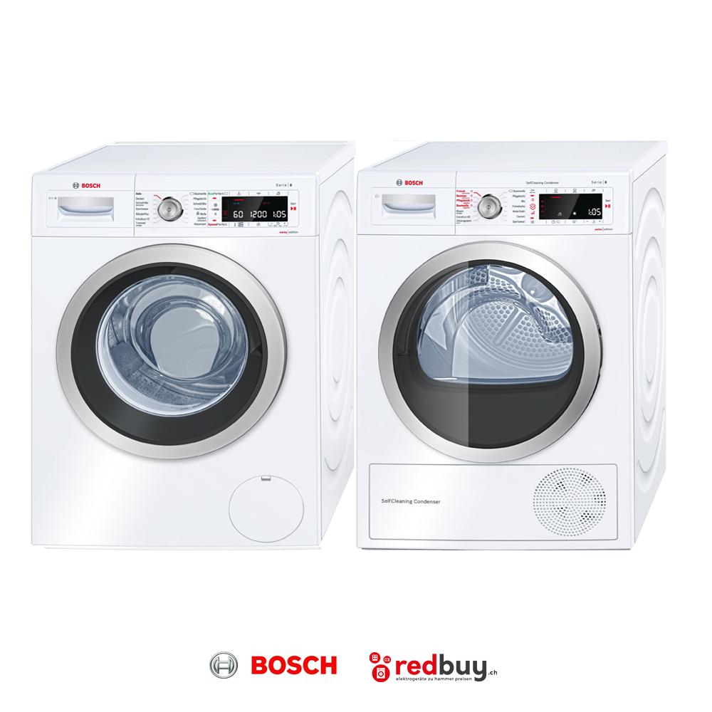 BOSCH WAW32640CH Waschmaschine und BOSCH WTW85540CH Trockner