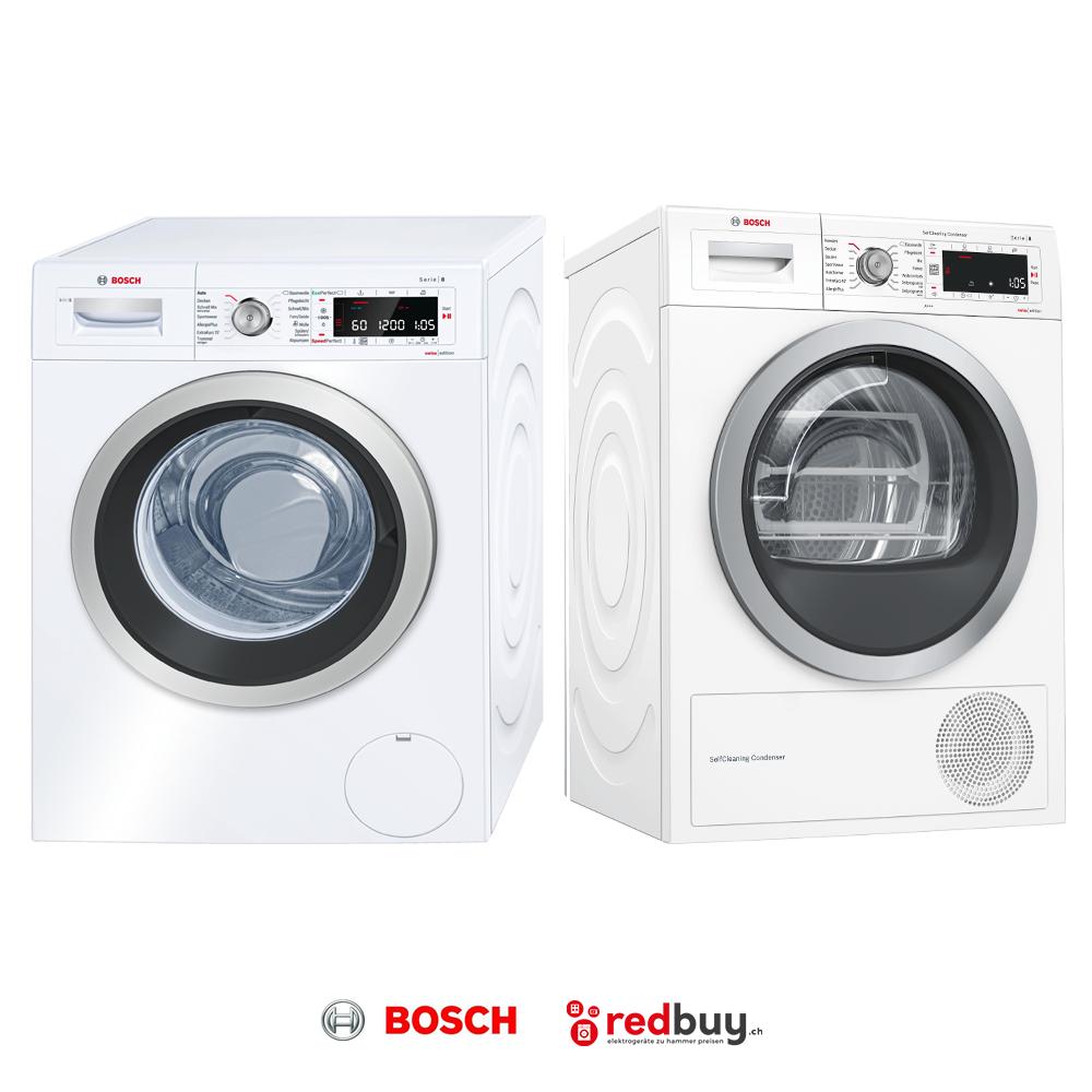 BOSCH WAW32640CH Waschmaschine und BOSCH WTW87571 CH Trockner
